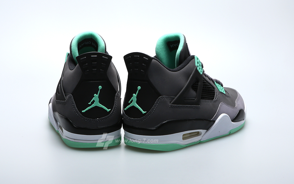the best attitude 9e072 0774b air jordan 4 retro green glow size 6