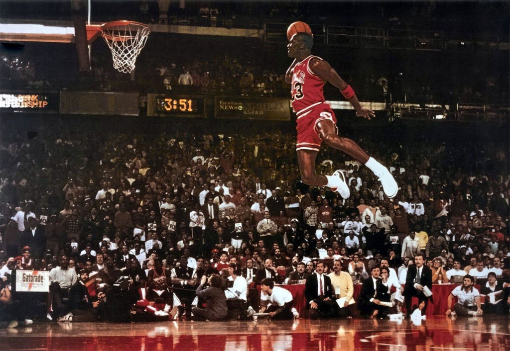 Michael Jordan 'Free Throw Line Dunk' Nike Air Jordan Poster (1988)