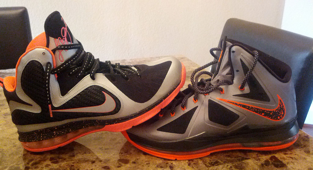 Nike LeBron X 10 Silver Black Orange Mango (15)