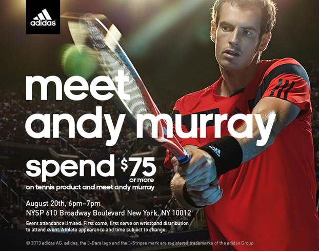 Meet Andy Murray Tonight At adidas NYC