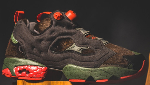 Reebok Instapump Fury Black/Primal Green-Stadium Red