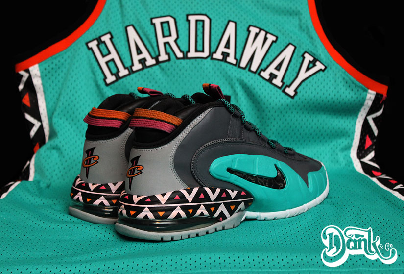 cheap for discount 7330a 254de Nike Air Penny 1 '1996 All-Star Game' by Dank Customs | Sole ...