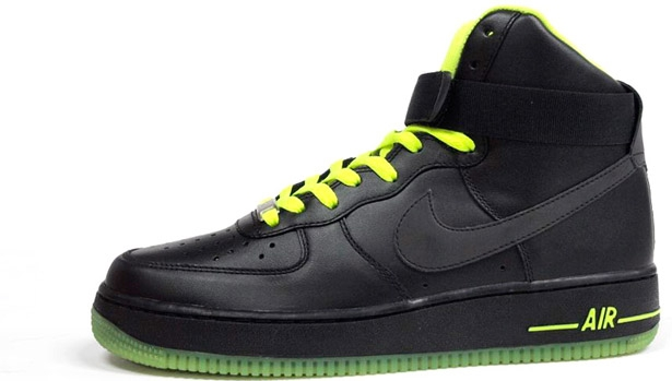 Nike Air Force 1 High Black/Black-Volt