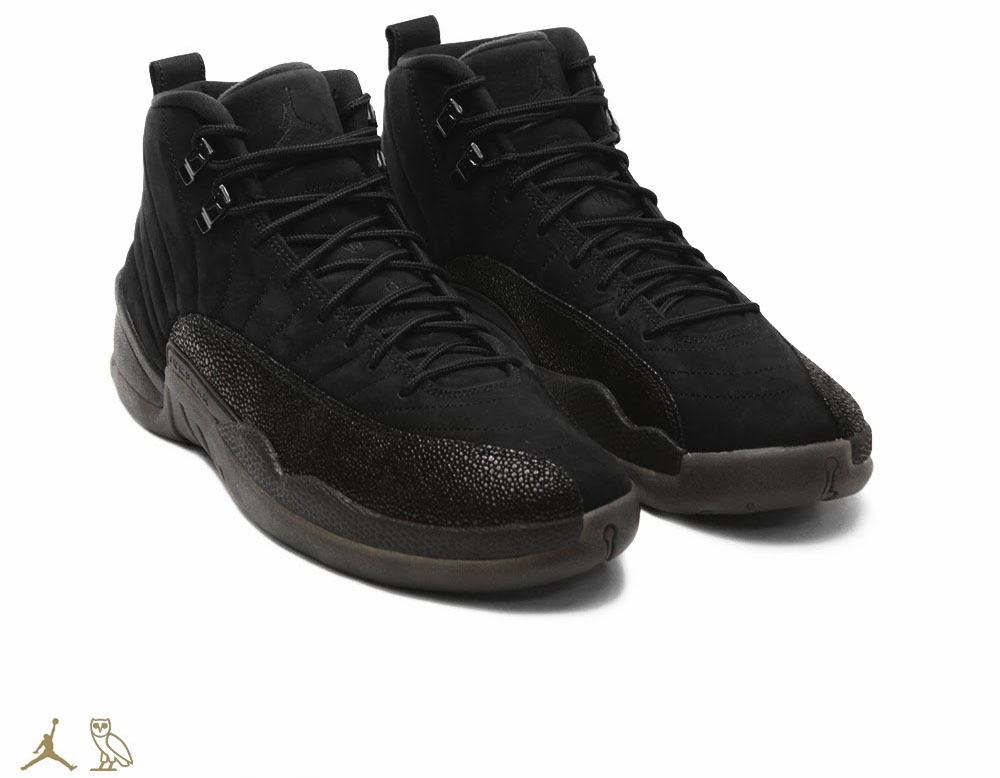 OVO x Air Jordan 12 Black (1)