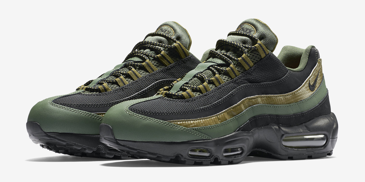 nike air max 95 black grey and green