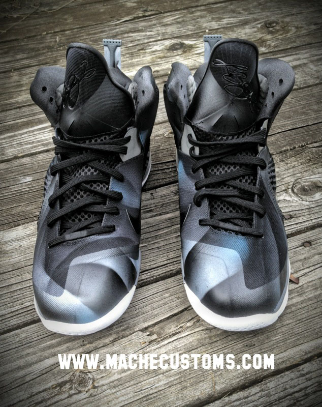 Nike LeBron 9 Dark Knight by Mache Custom Kicks (2)