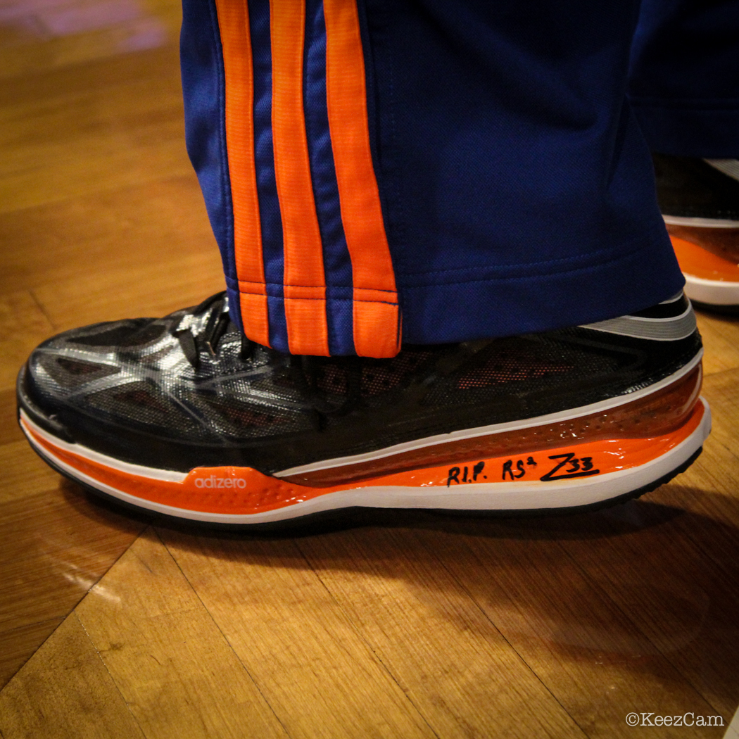 SoleWatch // Up Close At Barclays for Nets vs Knicks - Tim Hardway Jr. wearing adidas Crazy Light 3