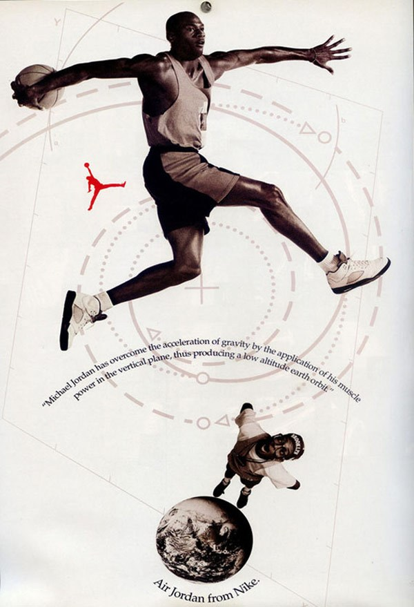 Michael Jordan 'Do You Know?' Nike Air Jordan Poster (1990)