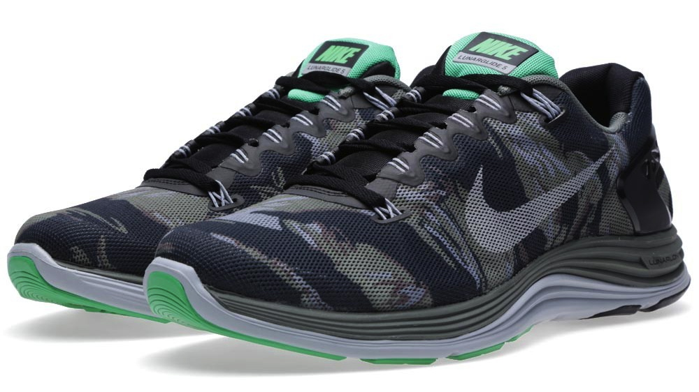 Nike LunarGlide 5 EXT Camo in black reflective silver wolf grey and mercury grey