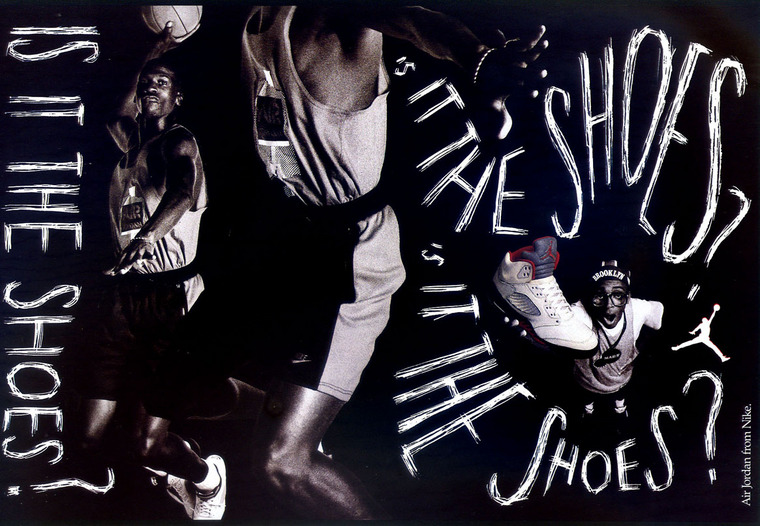 sale retailer 7044a 7bd03 Michael Jordan Is It The Shoes Nike Air Jordan Poster (1990)