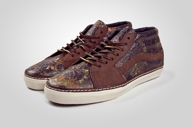 4af13318db The brushed camo Vans Vault Sk8 Mid LX will release this holiday season at  select Vans Vault retailers.