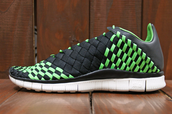 big sale 85de7 72b74 The Nike Free Inneva Woven in Black   Black   Poison Green   Sail drops  this spring at select NSW retailers.