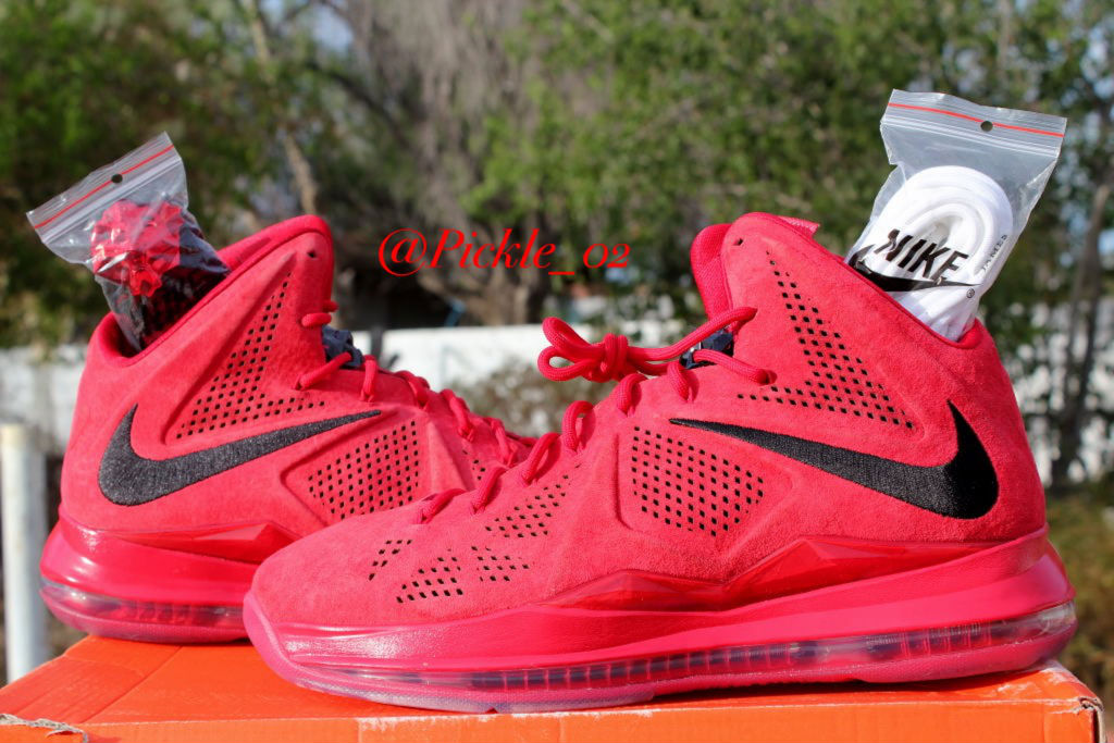 Spotlight // Pickups of the Week 9.1.13 - Nike LeBron X EXT Red Suede by Pickle