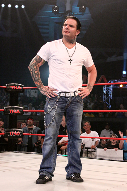 Jeff Hardy wearing the adidas Superstar II