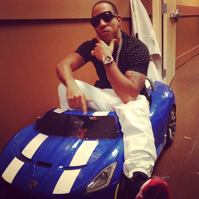 Ludacris wearing Air Jordan 11 Black/Red