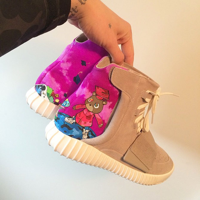 purchase cheap 4c5d0 883cd adidas Yeezy 750 Boost Graduation Custom (3)