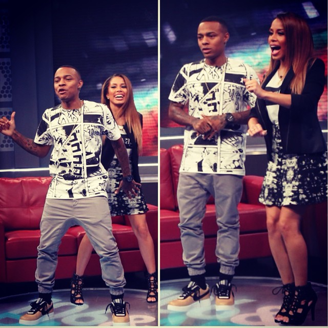 new product a3f3c f2ace Bow Wow wearing Nike Air Force 1 RT Beige