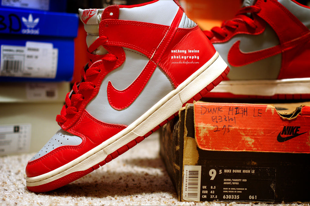Pickups of the Week // 4.7.13 - Nike Dunk High LE Silver Varsity Red by verse001