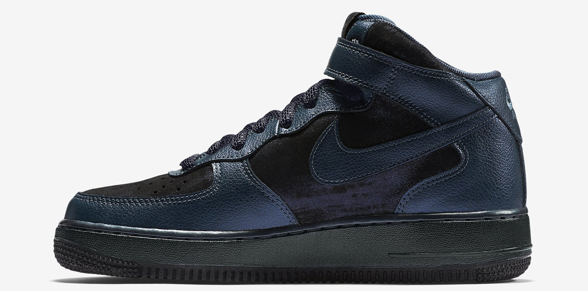Nike Air Force 1 Mid Color: Metallic Armory Navy/Squadron Blue/Metallic  Armory Navy Style: 805292-900. Price: $100