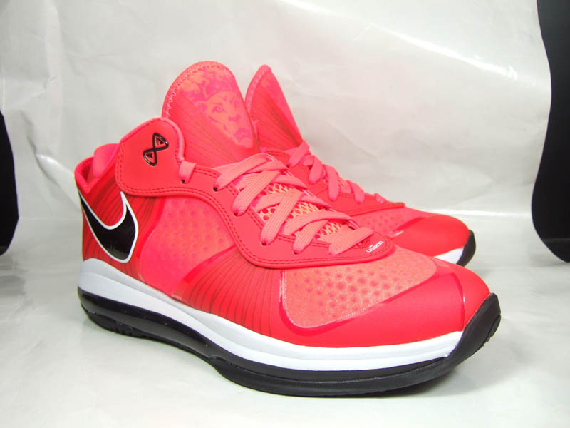 nike air max lebron 8 v2 low solar red new images