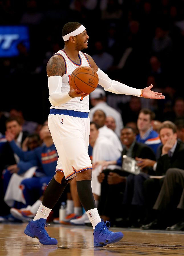 #SoleWatch: Carmelo Anthony Wears 'Blue Suede' Jordan Melo ...