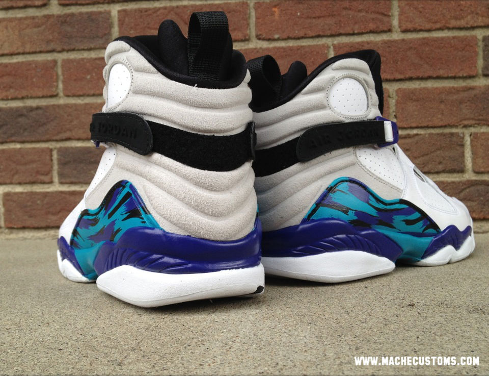 "Air Jordan VIII 8 ""Aqua Home"" by Mache Custom Kicks (2)"