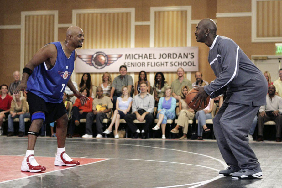 Michael Jordan wearing Air Jordan 4 Cool Grey