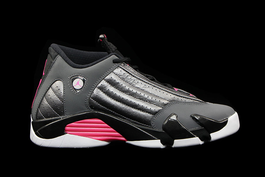Air Jordan XIV 14 GS Metallic Dark Grey / Hyper Pink Release Date 654969-028