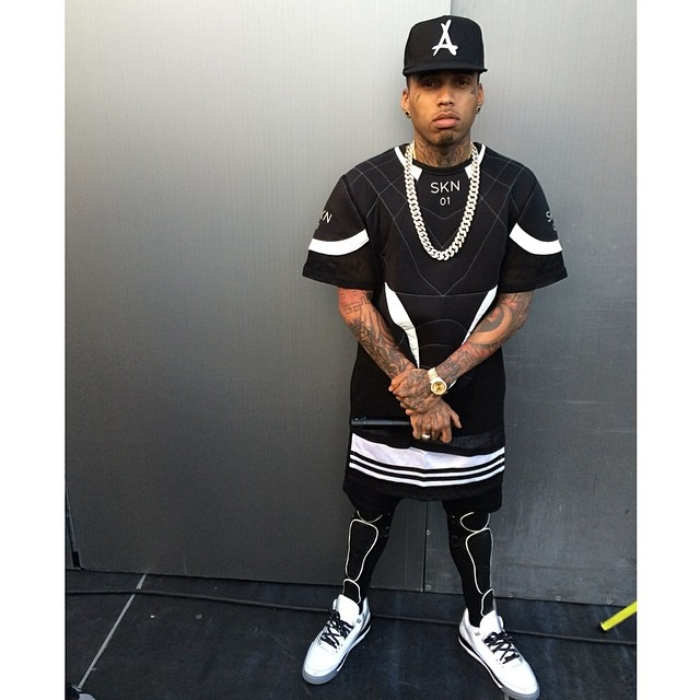 Kid Ink wearing Air Jordan 5Lab3