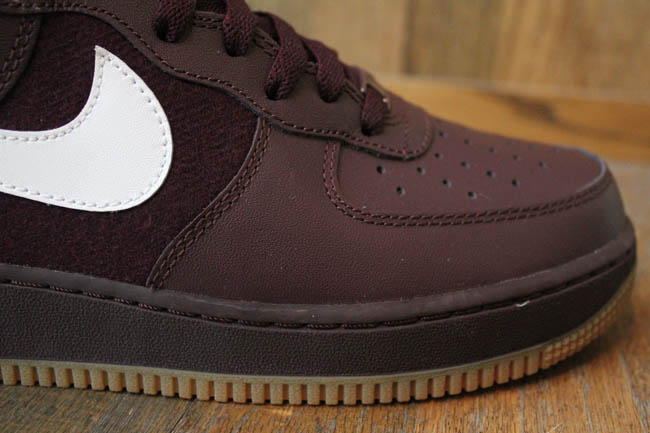 nike air force 1 hi deep burgundy white gum medium brown. Black Bedroom Furniture Sets. Home Design Ideas