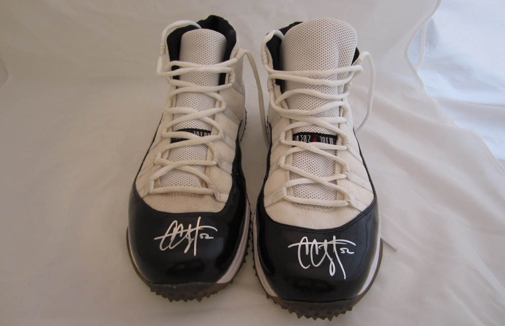 9f2a06e62bb64a ... Retro Turf Air Jordan XI 11 Concord C.C. Sabathia Turf Cleats Player  Exclusive (2) ...
