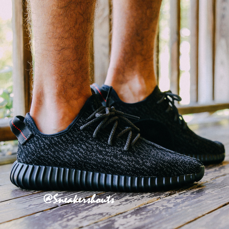 d5bad544c5ba8 Here s How the  Black  adidas Yeezy 350 Boost Looks On-Foot