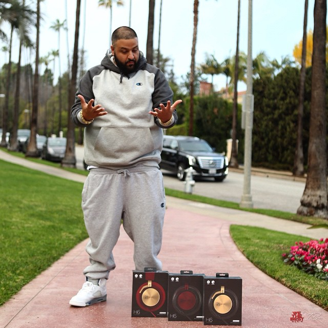 DJ Khaled wearing Air Jordan V 5 Stealth