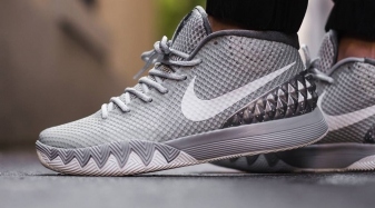 d6aef1e1cea7 ... See How the Wolf Grey Nike Kyrie 1 Looks On-Feet Sole Colle ...