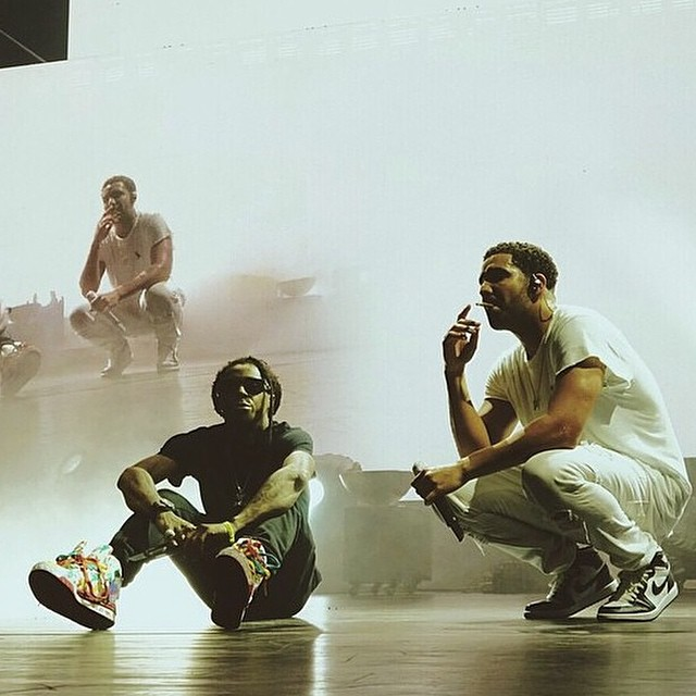 Drake wearing Air Jordan I 1 Retro
