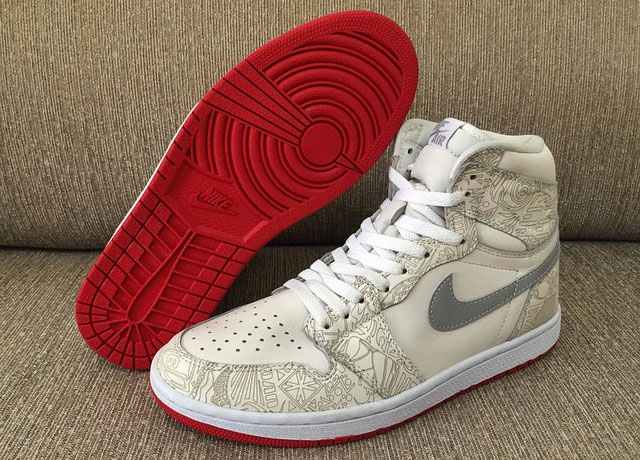 A Red Bottom for this Air Jordan 1 Sample  81ae31339