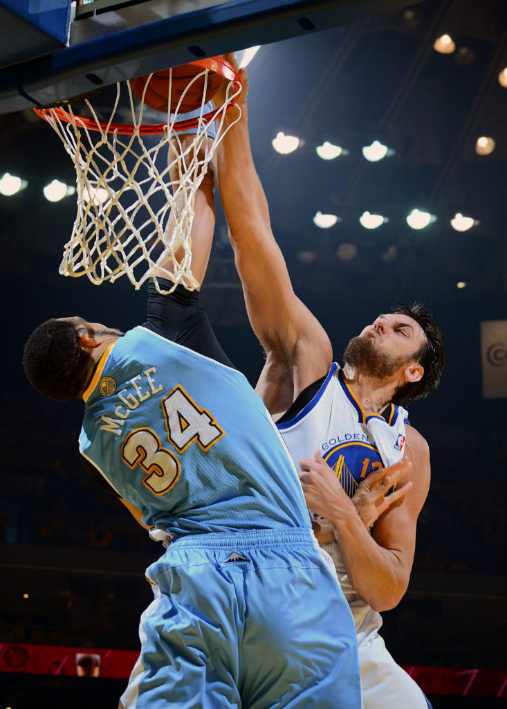 Andrew Bogut Posterizes JaVale McGee in the Nike Hyperfuse 2012 (2)