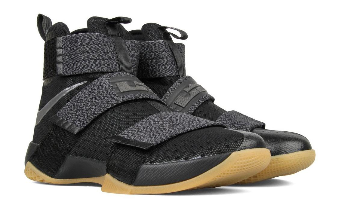 d10e2ebd4195 Nike LeBron Soldier 10 Black Gum