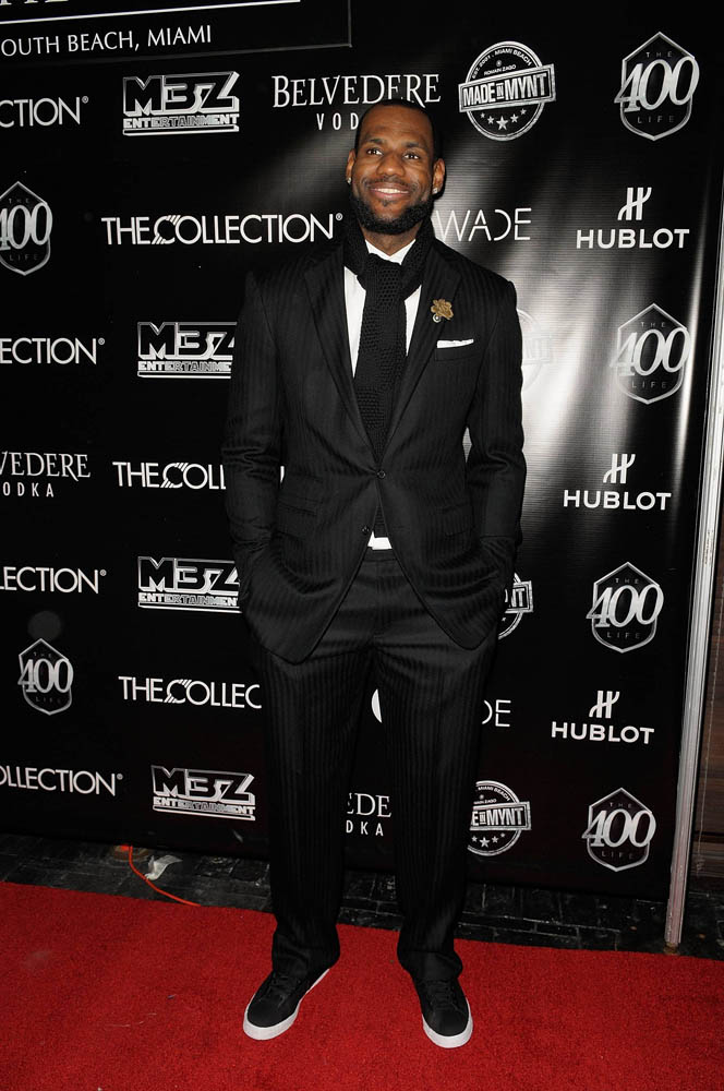 LeBron James wearing Nike Blazer