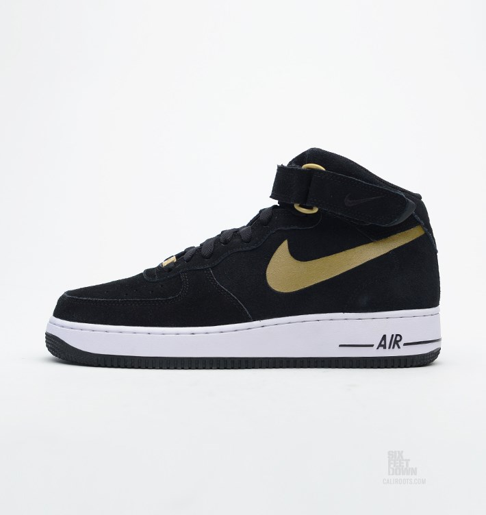 Nike Air Force 1 Mid Black Gold Sole Collector