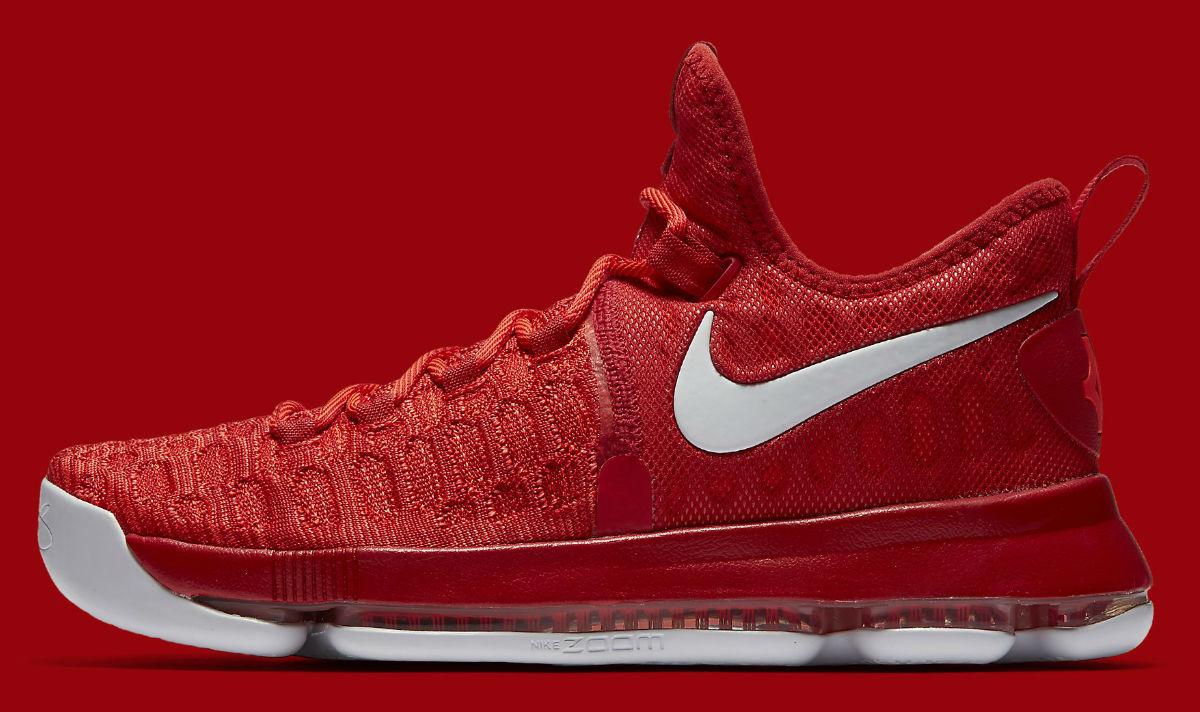 quality design 9bb10 0ab13 Nike KD 9 Varsity Red White Profile 843392-611