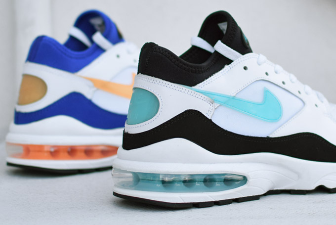 a detailed look at the nike air max 93 retro 39 menthol 39 39 citrus 39 og colorways sole collector. Black Bedroom Furniture Sets. Home Design Ideas