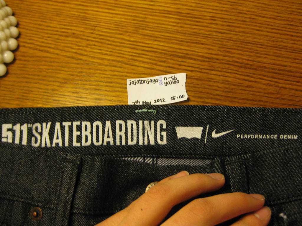 84db7602200a Levi s x Nike Skateboarding Sample 511 Jeans (3)