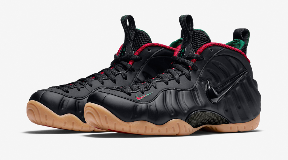 reputable site 13305 6705e Nike Foamposite Black Red Green