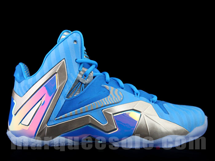wholesale dealer 1e72c b2dba Nike LeBron XI 11 Elite Blue 3M (1)