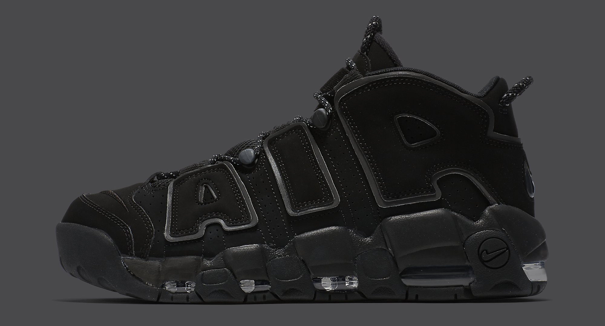 huge selection of 4ed7a 3f80c Nike Air More Uptempo Black Reflective 414962-004 Profile