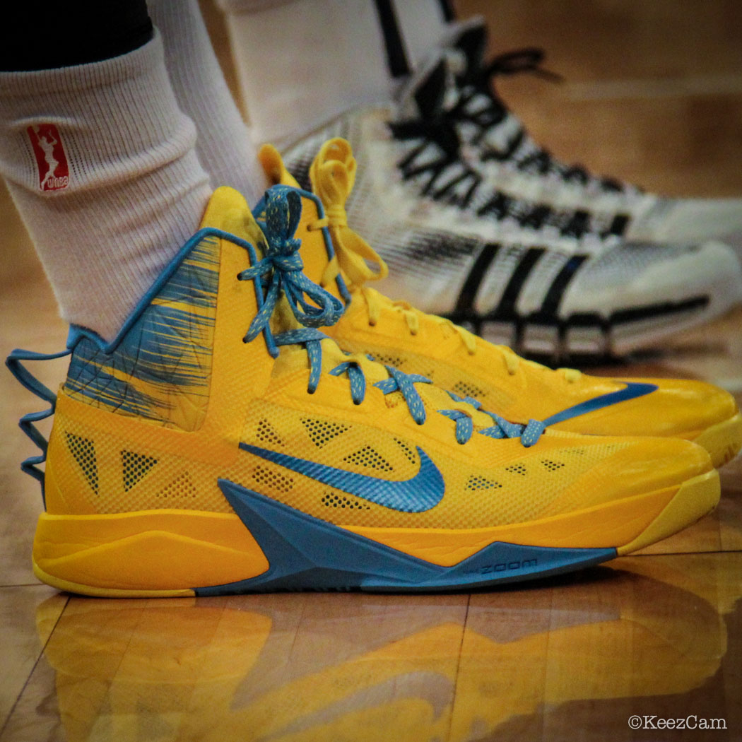 Sylvia Fowles wearing Nike Hyperfuse 2013 Chicago Sky PE