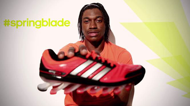 Video    RG3 Reacts To adidas Springblade  cf9c3f17f