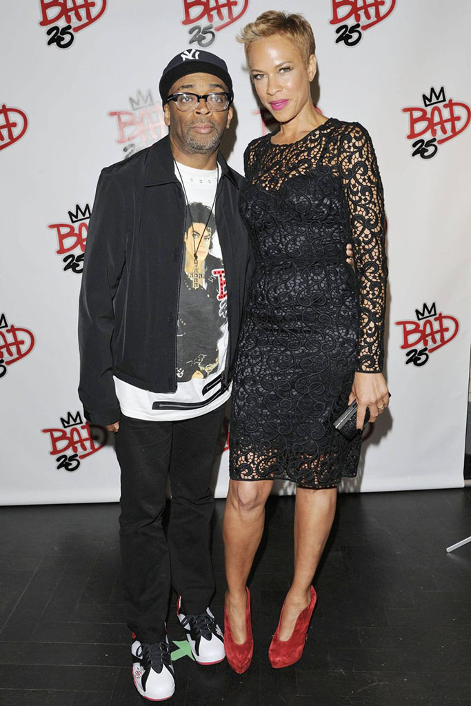 Spike Lee wearing Air Jordan VII 7 Bad 25 by Van Monroe (5)