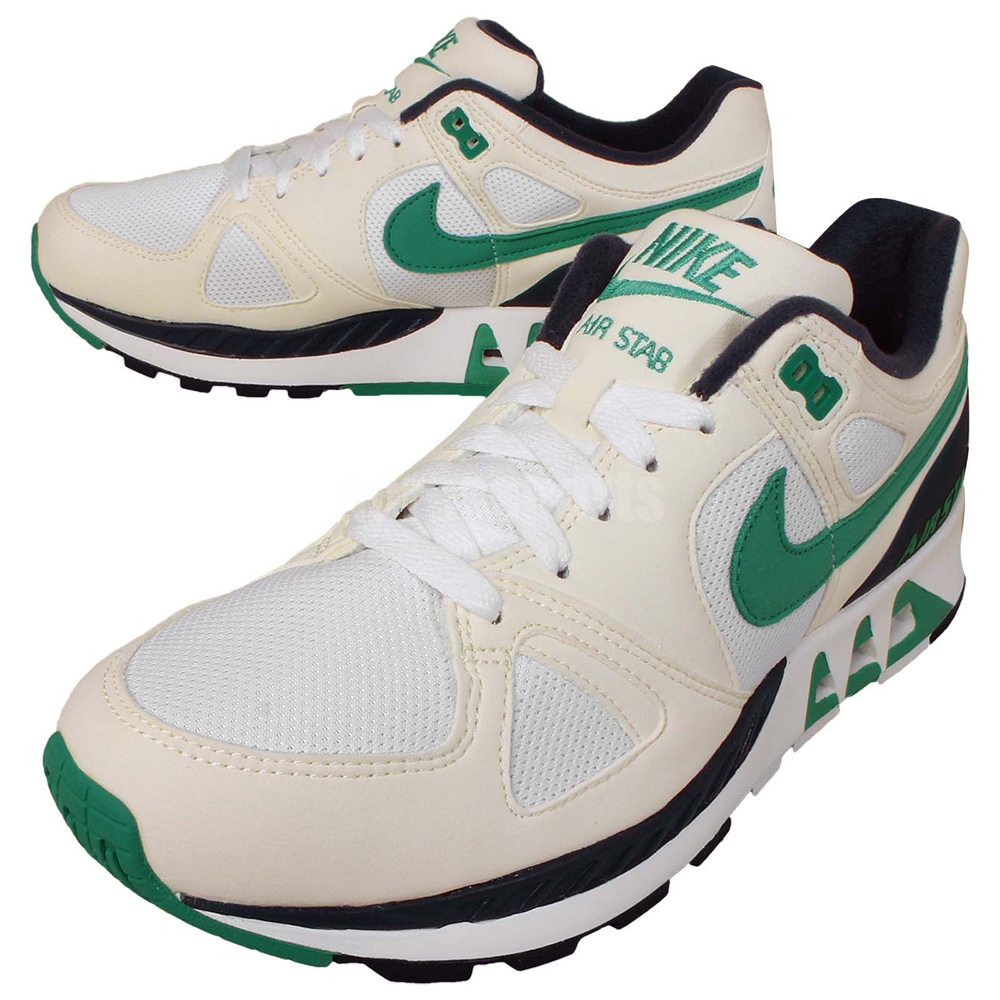f8b73c67d135 Nike Air Stab Color  White Emerald Green-Sail-Midnight Navy Style     312451-100